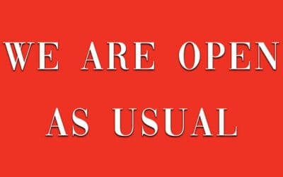 We are open as usual